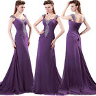 Stunning Chiffon Beaded Purple Evening/Formal/Ball gown/Party/Prom Dresses Long
