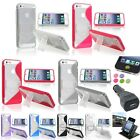 Color S-Shape Rubber TPU Case Stand+Dash Holder+BLK Charger+Sticker For iPhone 5