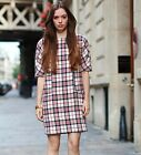 ZARA BNWT RED CHECKED DRESS ALL SIZES 2013 A/W COLLECTION