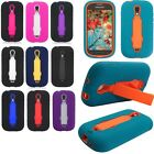 For Samsung Galaxy Light T399 IMPACT Hard Protector Rubber Case Cover Kickstand