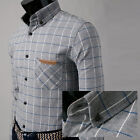 New model Series casual Dress for mens napping fabric stripe pocket Gray shirts