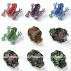 Lovely Crystal Animal Frog Cuff Bangle Elastic Finger Ring Punk Gothic Jewellery