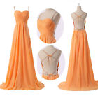 Sexy Backless Long Bridesmaid Ball Gown Evening Prom Party Pageant Wedding Dress