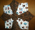 Handmade  Holiday Table Topper Star  Reversible  Easter Fall Halloween Cotton