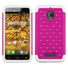 For Alcatel ONETOUCH Fierce HYBRID IMPACT Dazzling Diamond Case Phone Cover
