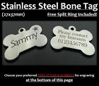 Stainless Steel Bone Pet Tag With Personalised Engraving for Dog Cat Pets