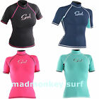 GUL LADIES RASHVEST RASHGUARD SHORT SLEEVE UV PROTECTION kayak bodyboard jetski