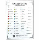 EIMASS® World Class Flat Back Rhinestone Colour & Size Chart, Sample, Guide