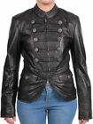 Ladies Real Soft Leather Black & Brown Blazer Jacket Vintage Stlye Casual Jacket
