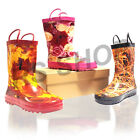 Hangable Kids Boys Girls Wellies Wellington Boots Rainy Snow Boots Waterproof