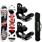 SNOWBOARD SET AIRTRACKS HIPSTER+ BINDUNG +BAG+PAD/ 150cm 153cm 159cm 164cm / NEU