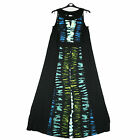 Ladies Evans Plus Size Keyhole Maxi Dress Blue Black Sleeveless Outfit 18 - 28