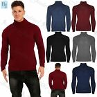 New Mens Stretch Knitted Roll High Turtle Polo Neck Casual Sweater Jumper Top
