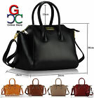 LS Womens Designer Style Leather Tote Shopper Bag Celebrity Handbag New
