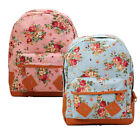 Rural Backpack Flowers Canvas Vegan Satchel School Bag UK