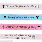 Personalised Baby Christening Banner - Pink Blue Party Decoration - Communion