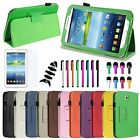 For Samsung Galaxy Tab 3 7 Inch 7.0 SM-T210R Tablet Case Cover Stand+Matte film