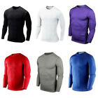 Mens Sports Compression Base Layer Long Sleeve T-Shirts Top Under Skin Tights