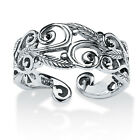 Toscana Collection Sterling Silver Women's High Polished Scroll Fashion Ring