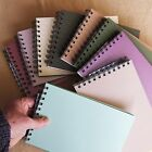 scrapbook A5 photo album 20 leaves=40 pages 8x6, 19mm wires for thicker books