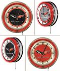 Chevy Corvette - C6 19 Chrome Double Neon Ring Wall Clock * Pick Your Colors *