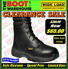 "Wide Load 'Hi Top' Orthotic Lace Up, 8"" Work Boots. Soft Toe, Non-Safety!"