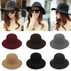 Lady Girls Wide Brim Wool Felt Bowler Fedora Hat Floppy Cloche Hat NEWLy Brand