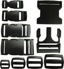 Delrin Plastic Side Release Buckle Clips/Sliders For Webbing 20mm/25mm/40mm/50mm