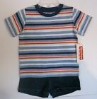 NEW FISHER-PRICE BOYS 2 PC SHORT OUTFIT  12M, 4T