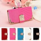 Luxury Bling Leather Card Wallet Case Magnetic Flip Cover Pouch For iPhone 5/5S
