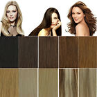 New Deluxe Clip In Remy Real Human Full Head 8 Wefts 18 Clips Hair Extensions