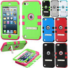 For Apple iPod Touch 5 (5th Generation) Impact Tuff Hybrid Kickstand Case Cover