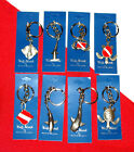Keychain Pewter scuba dive equipment novelty fun gift snorkeling gear marine