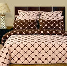 Blush/Chocolate Bloomingdale Egyptian cotton Bedding Set