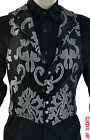 SHRINE GOTHIC ARISTOCRAT VAMPIRE VEST JACKET VICTORIAN BROCADE PIRAT STEAMPUNK