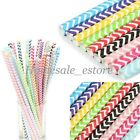 25Pcs Colorful Wave Paper Drinking Straws Decorative Wedding Party Drink Straw