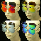 Sun glasses aviator frame lens new mirror retro vintage style men women full mm3