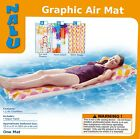 """Nalu Graphic Inflatable Air Bed / Mat / Lilo Size 72"""" x 27"""" - 3 Designs"""