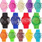 Hot ! Unisex Geneva Silicone Rubber Jelly Gel Quartz Analog Sports Wrist Watch