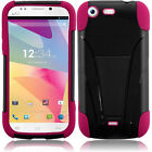 For BLU Life One L120 Advanced Layer HYBRID KICKSTAND Rubber Phone Case
