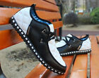 Men's Plaid Sneaker Breathable Recreational Casual Zapato Flats Loaf Shoes UZ27