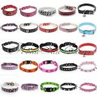 Adjustable Studded Neck Strap Pet Puppy Cat PU Leather Collar Adjustment Buckle