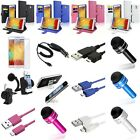 Leather Case Stand+Accessory Bundle Charger For Samsung Galaxy Note 3 III N9000