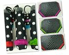 CLIFTON Umbrella -Folding Compact Mini Maxi - Polka Dots with Bow-Choose colour