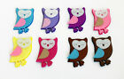 OWLS Felt SHAPES fabric EMBELLISHMENT sticker hair clips scrapbooking sewing