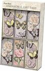 Punch Studio Beautiful Unique Dimensional Party Gift Tags Butterfly Dance 54745