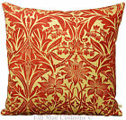 William Morris Bluebell Designer Vintage Style Fabric Red Cushion Pillow Cover