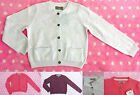 Baby Girls Next White Coral Berry Cotton Cardigan Knit Top FREE UK P&P