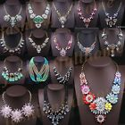 New Hot Selling Fashion Mixed Style Chunky Statement Crystal Choker Bib Necklace