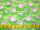FUNNY FARM - CRAZY SHEEP & LAMBS ON THE FARM PATCHWORK COTTON FABRIC